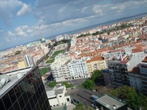 Lisbon filmed by the onboard camera