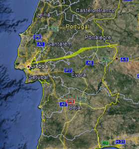 Predicted Flight for Balua Two (top View)